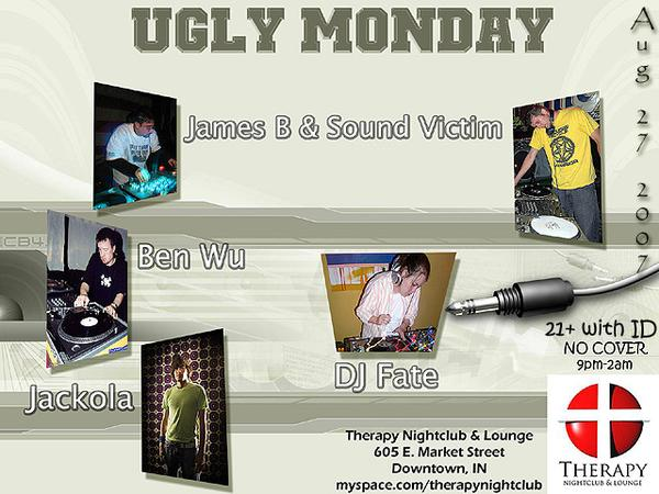 Ugly Monday, August 27 @ Therapy Nightclub