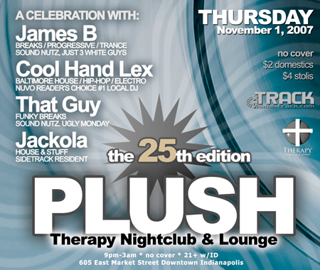 November 1, 2007 @ Therapy Nightclub - Indianapolis House Music