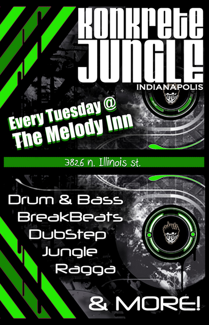 Konkrete Jungle, Indianapolis Drum & Bass, Breaks, Jungle, Dub