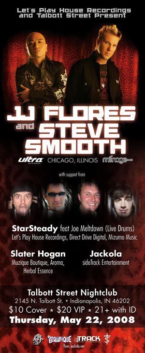 Indianapolis, IN - JJ Flores & Steve Smooth - Let's Play House Recordings Sessions @ Talbott Street - May 22, 2008